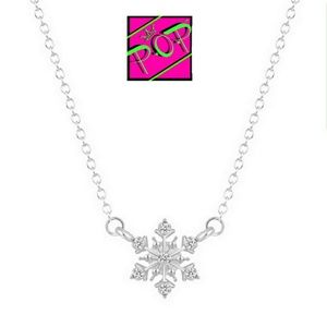 Jewelry - Snowflake necklace, silver